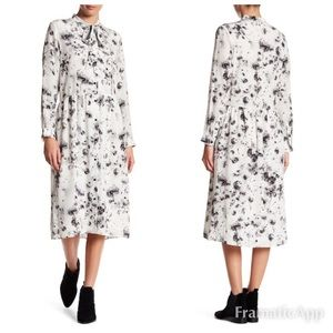 The Kooples dandy lyon silk shirt dress